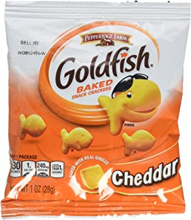Pepperidge Farm Cheddar Goldfish Crackers, 1 Ounce, Pack of 45