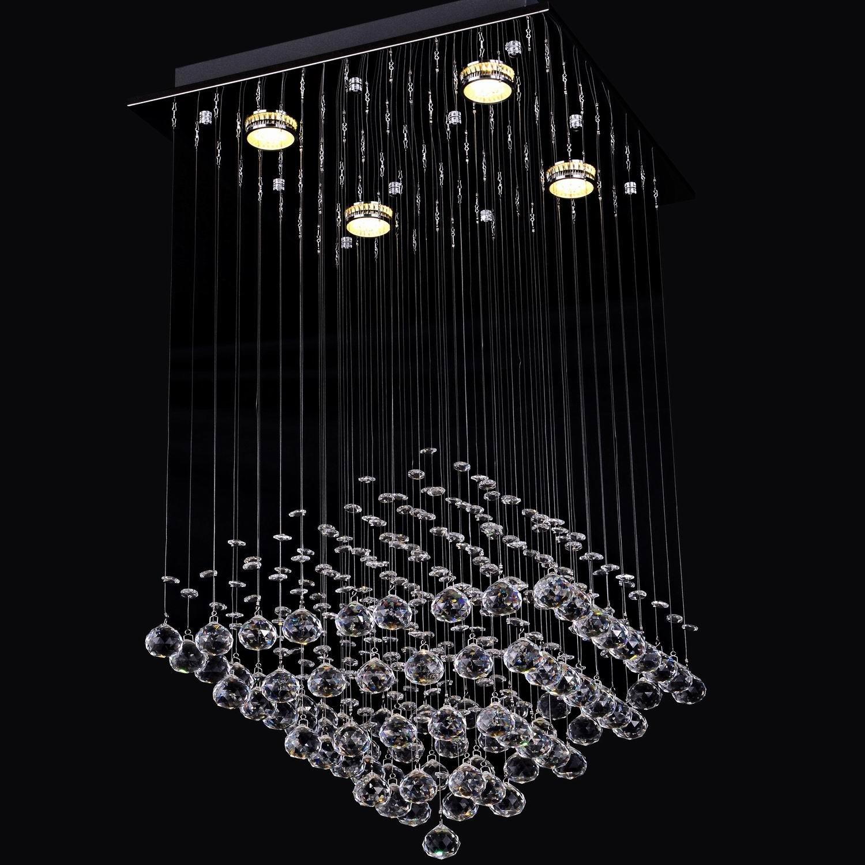 LightInTheBoxモダンレインドロップクリアクリスタル4キセノンランプ埋め込み天井シャンデリアシャンデリア照明