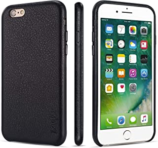 iPhone 6 Case iPhone 6s Case Rejazz Anti-Scratch iPhone 6 Cover iPhone 6s Cover Genuine Leather Apple iPhone Cases for iPhone 6/6s (4.7 Inch)(Black)