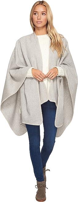 UGG - Blanket Stitch Poncho with Trim