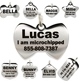 Stainless Steel Pet ID Tags - Engraved Personalized Dog...