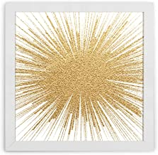 Quadro Decorativo 32x32 Moldura Slim White 160241148, Design Up, Colorido