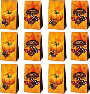 24 Packs Thanksgiving Gift Bags, Thanksgiving Party Supplies Decorations Treat Candy Bags, Gift Goodie Bags, School Classr...