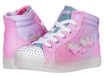 SKECHERS KIDS Twinkle Toes Shuffle Brights 2.0 314010L (Little Kid) (Pink/Multi) Girl