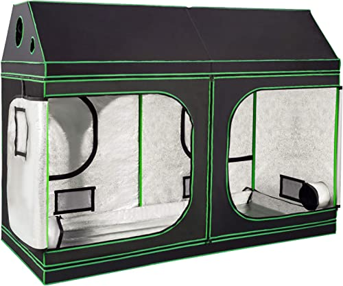 """new arrival Giantex outlet online sale 96""""x48""""x72"""" Plant Grow Tent, Indoor Growing Tent with Observation Windows, Lightproof and Waterproof Roof Cube Tent with Floor Tray, Mylar Hydroponic Tent, Zipped Doors and outlet sale Vents online sale"""