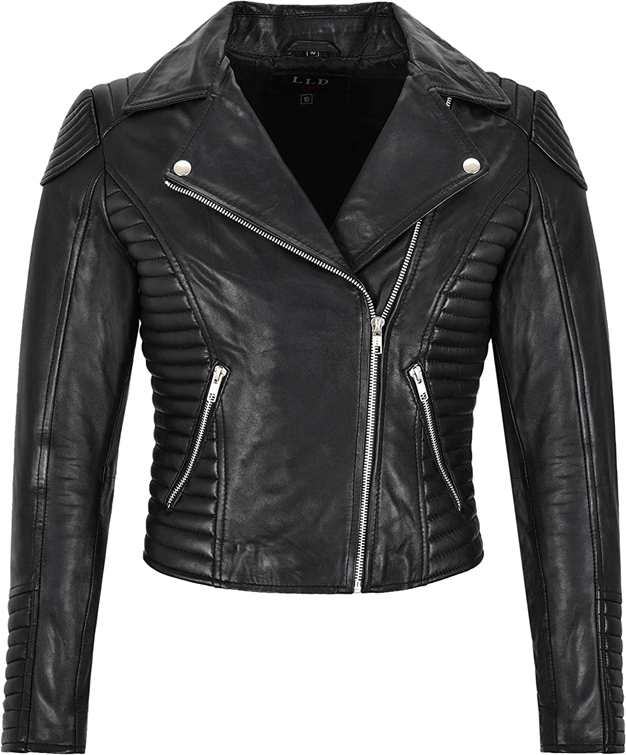 Carrie CH Hoxton Ladies Real Leather Jacket Classic Fashion Quilted Design Biker Style L21687