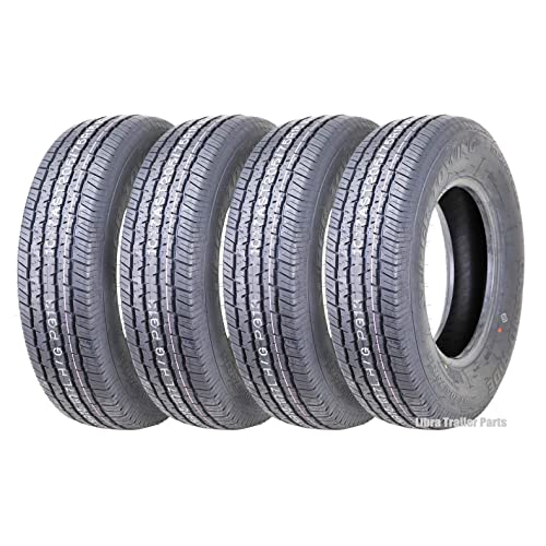 Set of 4 New Premium Grand Ride Trailer Tires ST 205/75R15 8PR/Load