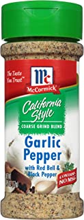 McCormick California Style Garlic Pepper with Red Bell & Black Pepper Coarse Grind Seasoning, 2.75 Ounce