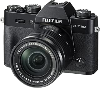 Fujifilm X-T20 Mirrorless Digital Camera w/XC16-50mmF3.5-5.6 OISII Lens-Black