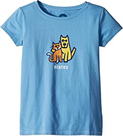Life is Good Kids - Besties Rocket and Cat Crusher Tee (Little Kids/Big Kids)