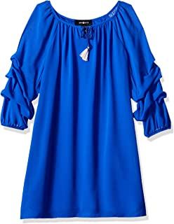 Amy Byer Girls' Big line Dress with Pickup Sleeves