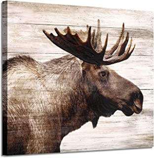 Elk Canvas Pictures Wall Art: Majestic Deer Artwork Prints on Wrapped Canvas Painting Picture for Office (24'' x 18'')