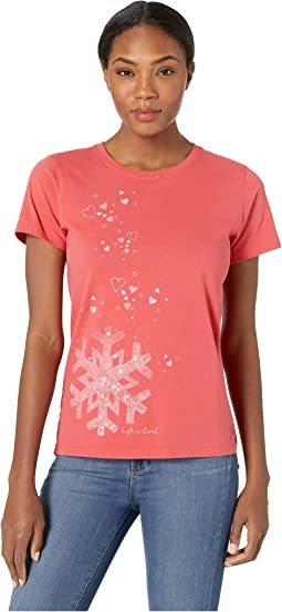 Floating Snowflakes Crusher T-Shirt