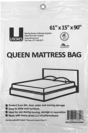 uBoxes Queen Mattress Poly Covers, 61 x 15 x 90 inch, Heavy Duty 2