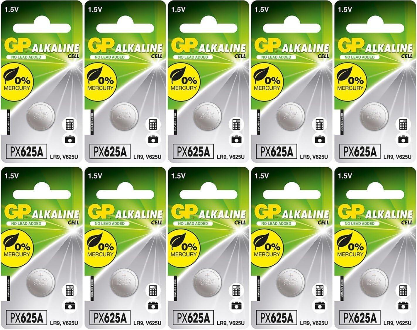 GP 625A Large-scale sale E625GBP K625A PX625A Super-cheap MR09 1.5V Bat V625A 10 Alkaline LR9