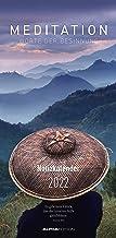 Meditation Notizkalender 2022- Wandkalender - mit Extraspalte für Geburtstage - Format 22 x 45 cm: Worte der Besinnung
