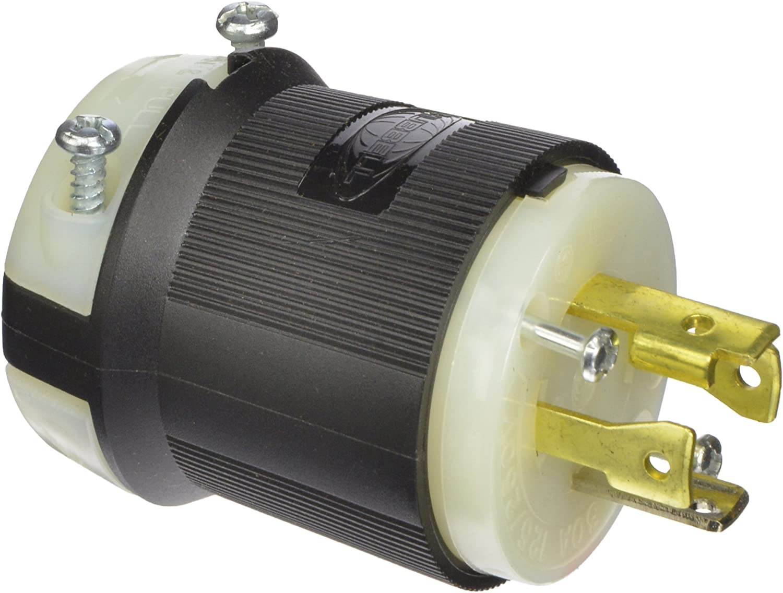 HUBBELL WIRING DEVICE-KELLEMS HBL2761 Plug,277//480VAC,30A,L19-30P,4P,4W,3PH