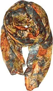 Ladies/Women's Lightweight Floral Print/Solid Color mixture Shawl Scarf For Spring Summer season