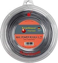 خيط تنس كيرشبوم ريل ماكس للطاقة، 1.25 مم/ 17 درجة، فضي رمادي
