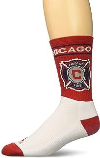 MLS Mens Team Name & Logo Crew Socks