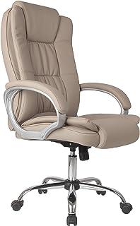 comprar comparacion Venta Stock Confort 2 - Sillón de oficina elevable y reclinable, piel sintética, color taupe