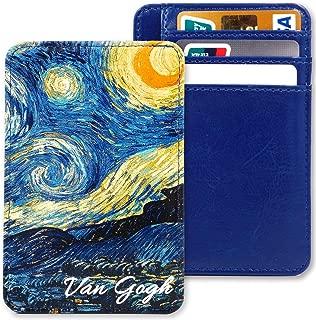 Kandouren Slim Minimalist RFID Leather Wallets,Front Pocket Wallet,Credit Card Holder for Men & Women,Money Clip