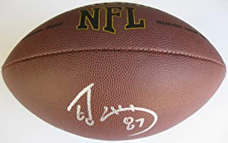 Ed McCaffrey Autographed Football - stanford coa proof - Autographed Footballs
