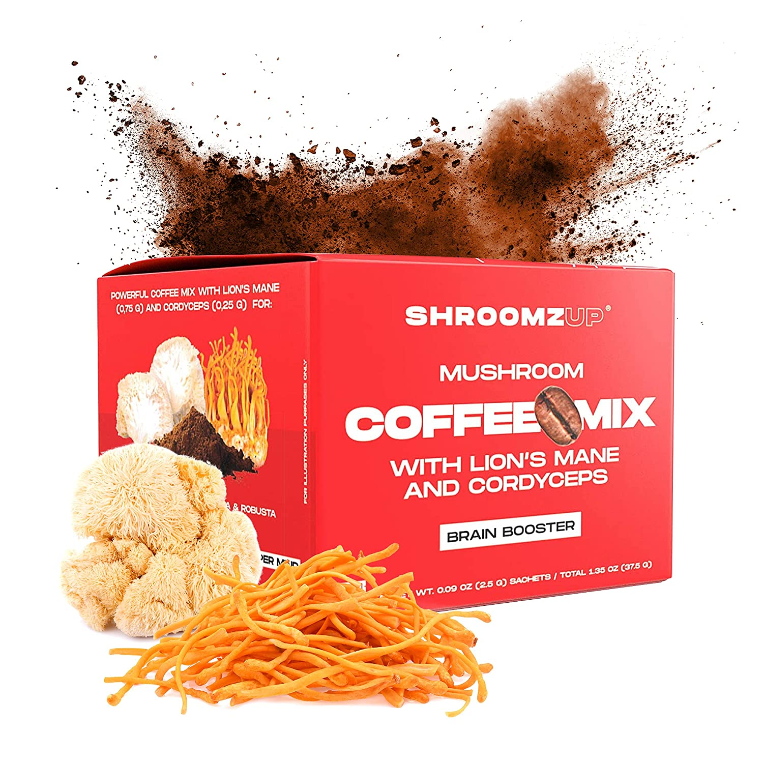 ShroomzUp Instant Mushroom Coffee Mix 40% OFF Cheap Sale Lion's Cordyce With Mane online shop