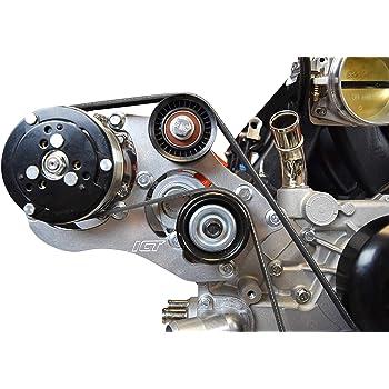 LS 1//2 Water Pump Spacers Kit Billet Aluminum Gasket Bolt LS1 LSX551524 ICT Billet