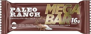 (12 Pack) PALEO RANCH 16 Grams Protein MEGA BAR, Cage Free Egg White Protein, Collagen, Non-GMO, Gluten Free, 2.54 Ounce, Chocolate Sea Salt