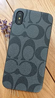 Gibbon iPhoneXS MAX - US Fast Deliver Guarantee FBA- New Elegant Luxury Designer PU Leather Monogram Style Cover Case for Apple iPhone Xs MAX ONLY (CO Black)