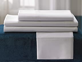Fairfield by Marriott Fairfield Signature Sheet Set - Soft, Breathable 300 Thread Count Cotton Blend Linen Set Exclusively White - Includes Fitted Sheet, Flat Sheet, and 2 Pillowcases - King