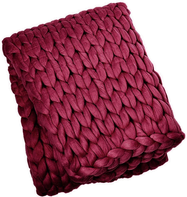 Chunky Giant Knit Throw Max 84% OFF Handmade New product!! Knitting Bulky Blanket Yarn Dec