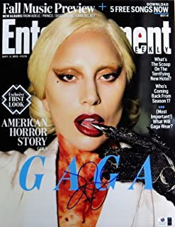 Lady Gaga Signed Autographed 11X14 Photo Sexy Entertainment Weekly GV834447