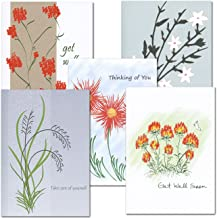 Get Well Card Assortment - 2 each of 5 different styles, box of 10 cards & envelopes