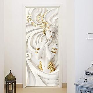murimage Papel Pintado Puerta Sirena 3D 86 x 200 cm Incluye