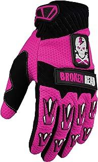 Broken Head MX Handschuhe Faustschlag   Motorrad Handschuhe Für Motocross, Enduro, Mountainbike   Pink   Größe M