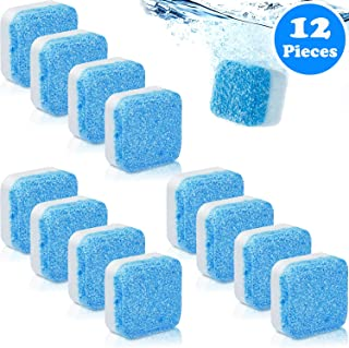 12 Pieces Solid Washing Machine Cleaner Effervescent Tablet Washer Cleaner Deep Cleaning Remover with Triple Decontamination for Washing Machine Bath Room Kitchen Tools