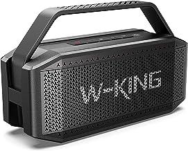 بلندگوی بلوتوث 60W (80W Peak) ، بلندگوهای W-KING بی سیم بلوتوث با 40H Playtime ، باتری 12000mAh پاور بانک ، TWS ، NFC ، میکروفون ، بلندگوهای بیرونی ضد آب IPS6 ، بلند ، باس غنی ، صدای شفاف بلوری