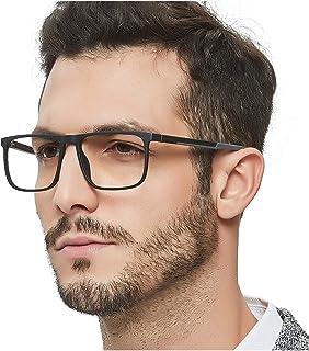OCCI CHIARI Men Fashion Rectangle Stylish Eyewear Frame With Non-Prescription Clear Lens