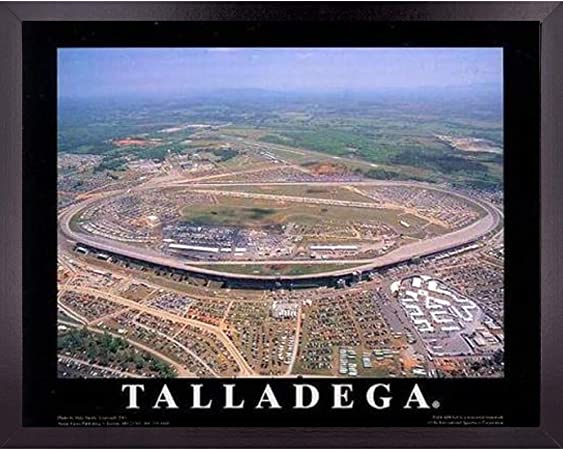 Amazon Com Talladega Nascar Super Speedway Stadium Poster Wall Art Decor Framed Print 23 X 29 Car Racing Aerial Race Track Posters Pictures Speed Sports Fan Gifts For Guys