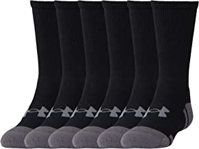 Under Armour Youth Resistor 3.0 Crew Socks, 6 Pairs