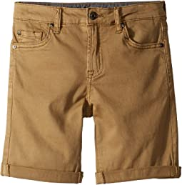 Classic Five-Pocket Stretch Twill Shorts in Dark Khaki (Big Kids)