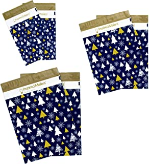 Inspired Mailers - Holiday Poly Mailers - Golden Trees Deluxe Variety Pack - 30-10 Each: 6x9, 10x13, 14.5x19 Sizes