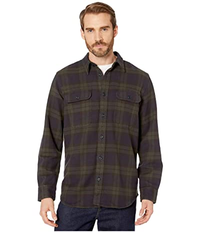 Filson Vintage Flannel Work Shirt (Black/Green/Navy) Men