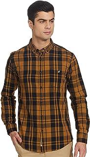 Amazon Brand - House & Shields Men's Checkered Regular fit Casual Shirt