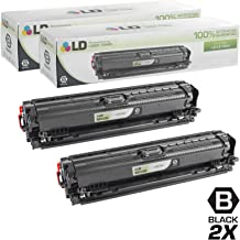 LD Remanufactured Toner Cartridge Replacement for HP 307A CE740A (Black, 2-Pack)