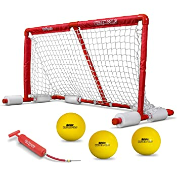 GoSports Floating Water Polo Game Set | Must Have Summer Pool Game | Includes Goal and 3 Balls