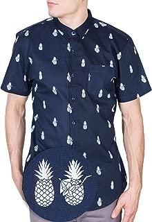 Mens Short Sleeve Button Down Tropical Hawaiian Printed Shirts - Size Small - 4X-Large