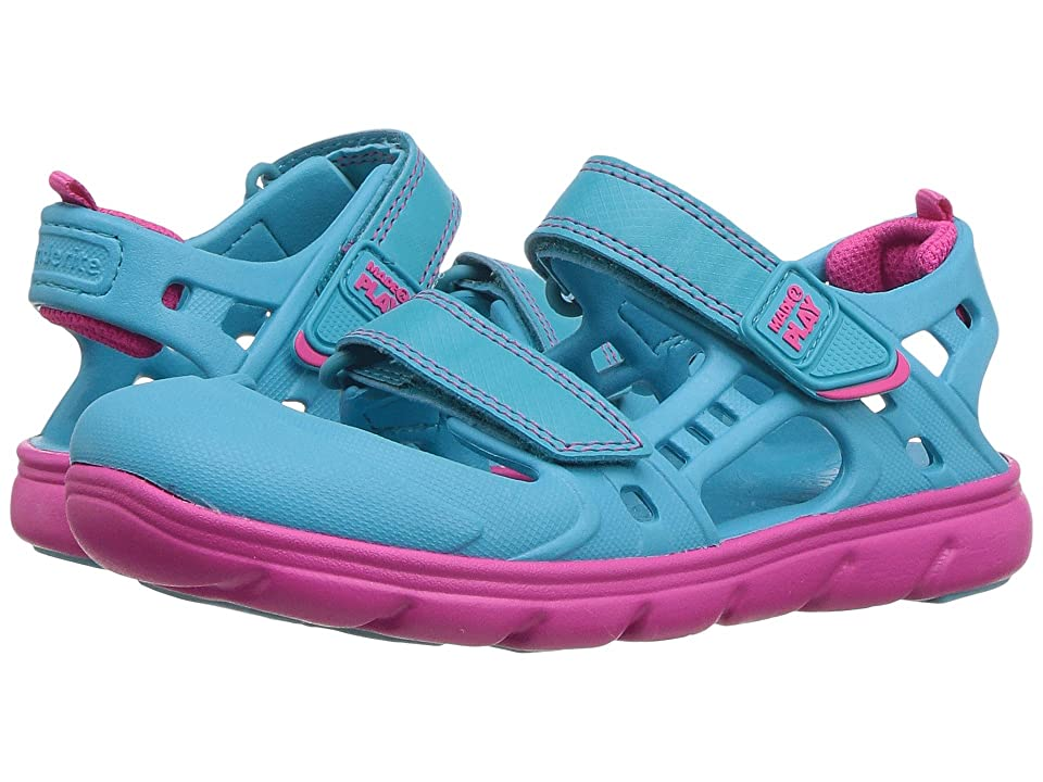 Stride Rite Made 2 Play Phibian Sandal (Little Kid) (Turquoise) Girls Shoes